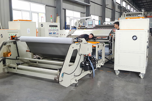 Automobile floor leather adhesive coating production line